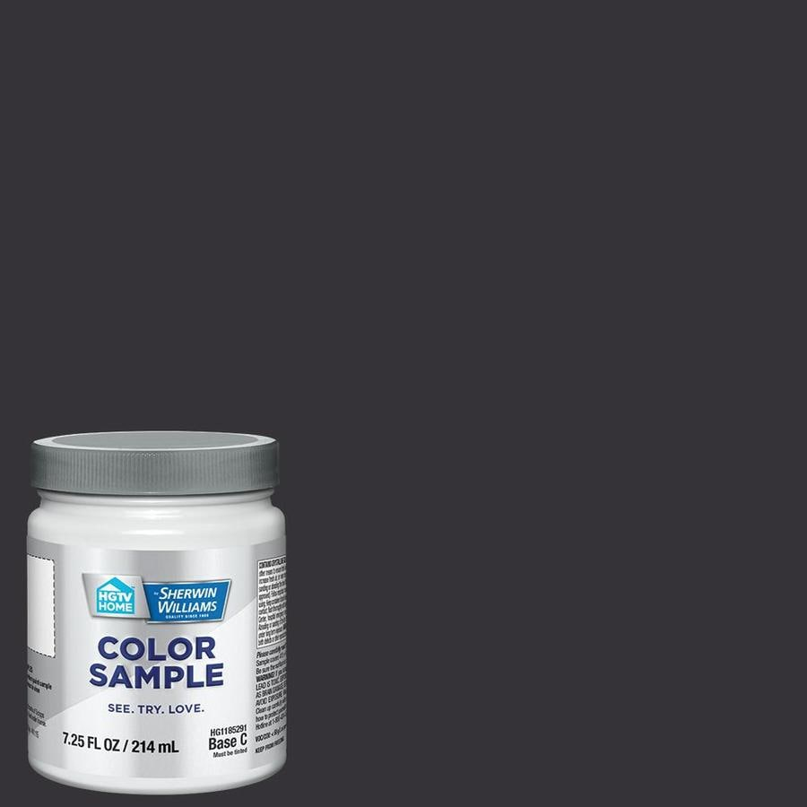 HGTV HOME by Sherwin-Williams (SW6989) DOMINO Interior Satin Paint Sample (Actual Net Contents: 8-fl oz)