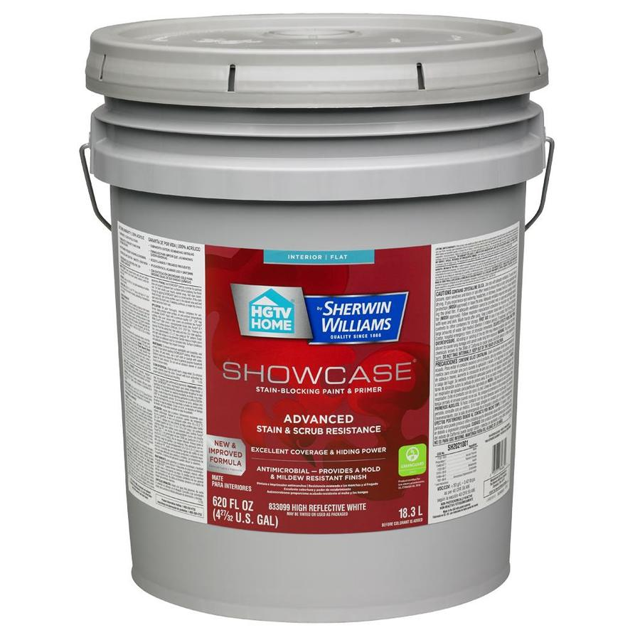 HGTV HOME by Sherwin-Williams Showcase Tint Base Flat Acrylic Interior Paint and Primer in One (Actual Net Contents: 620-fl oz)