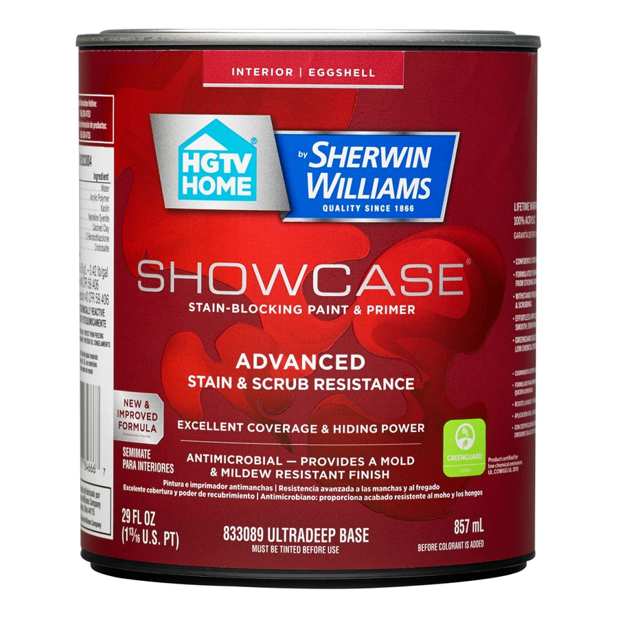 HGTV HOME by Sherwin-Williams Showcase Tint Base Eggshell Acrylic Interior Paint and Primer in One (Actual Net Contents: 29-fl oz)