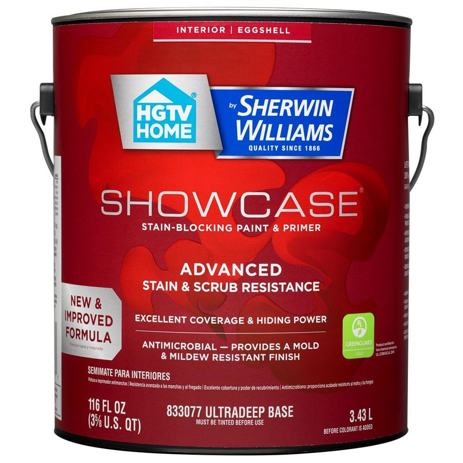 HGTV HOME by Sherwin-Williams Showcase Tint Base Eggshell Acrylic Interior Paint and Primer in One (Actual Net Contents: 116-fl oz)