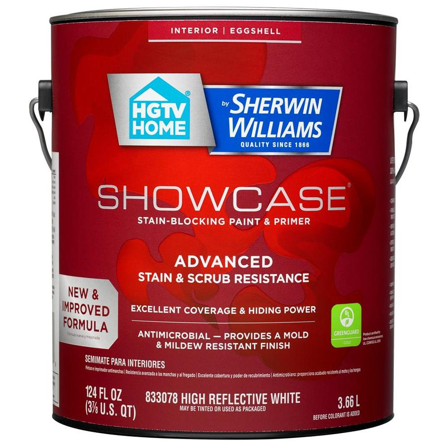 HGTV HOME by Sherwin-Williams Showcase Tint Base Eggshell Acrylic Interior Paint and Primer in One (Actual Net Contents: 124-fl oz)