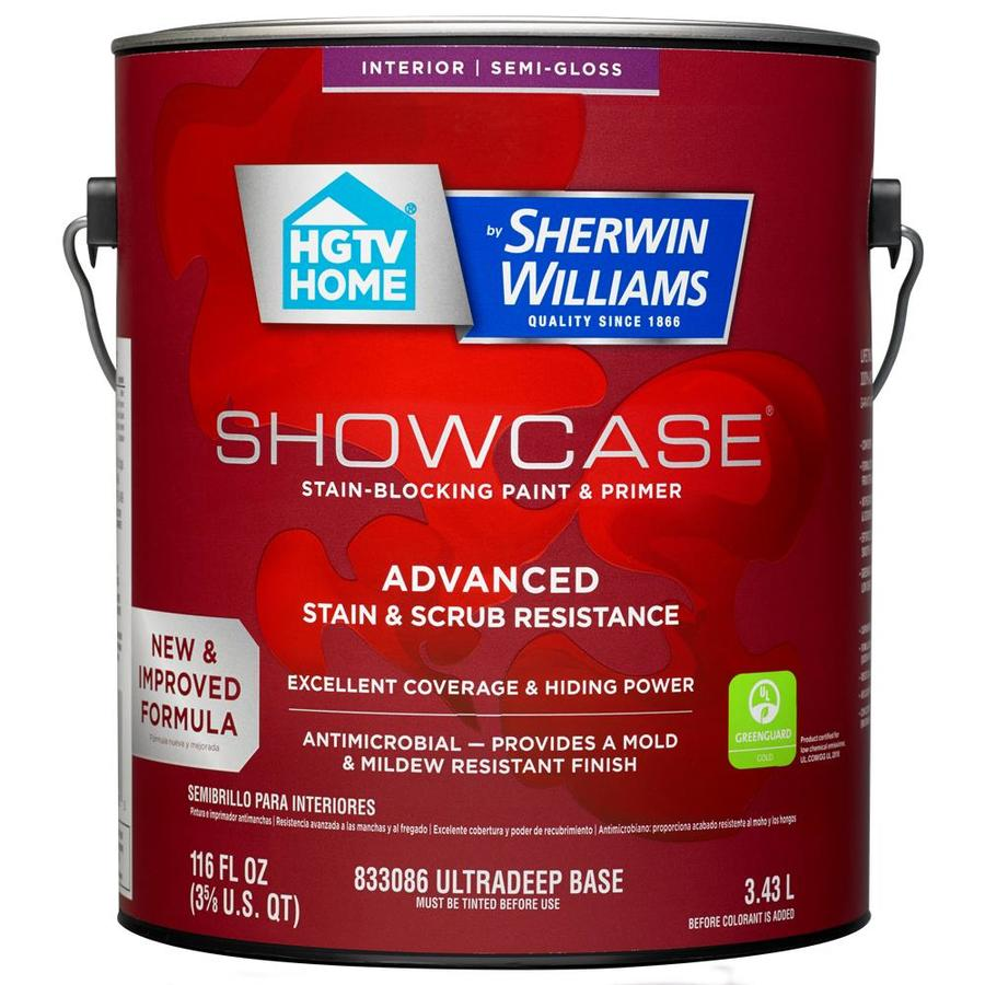 Shop hgtv home by sherwin williams showcase tint base semi for Sherwin williams dry erase paint review