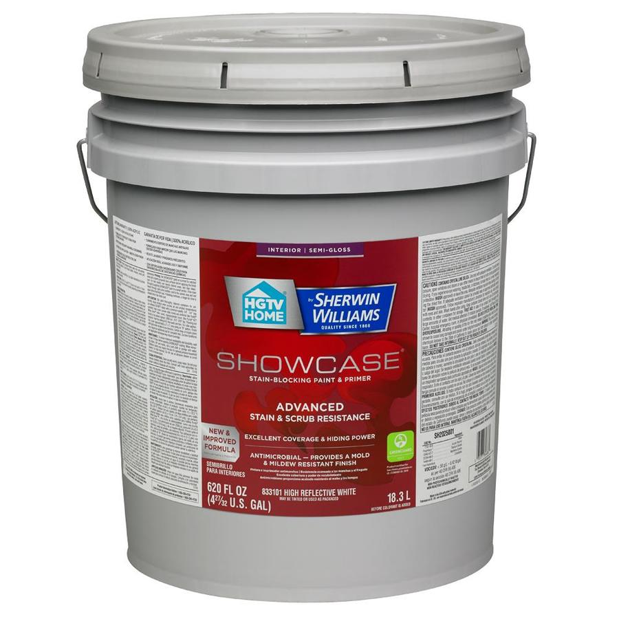 HGTV HOME by Sherwin-Williams Showcase Tint Base Semi-gloss Acrylic Interior Paint and Primer in One (Actual Net Contents: 620-fl oz)