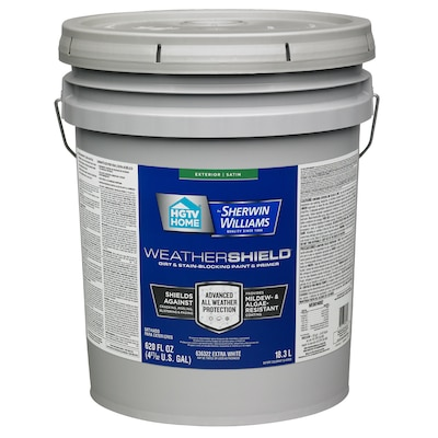 Weathershield Extra White Satin Exterior Tintable Paint Actual Net Contents 620 Fl Oz