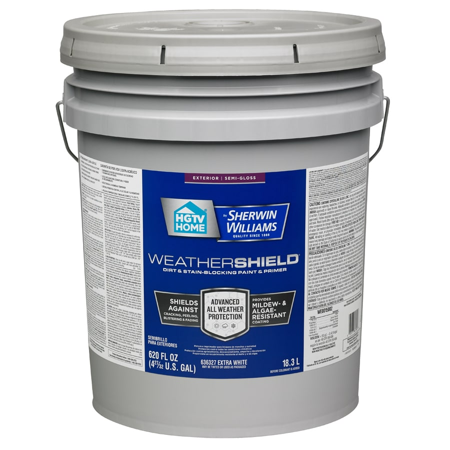Hgtv Home By Sherwin Williams Weathershield Semi Gloss Tintable Latex Exterior Paint Actual