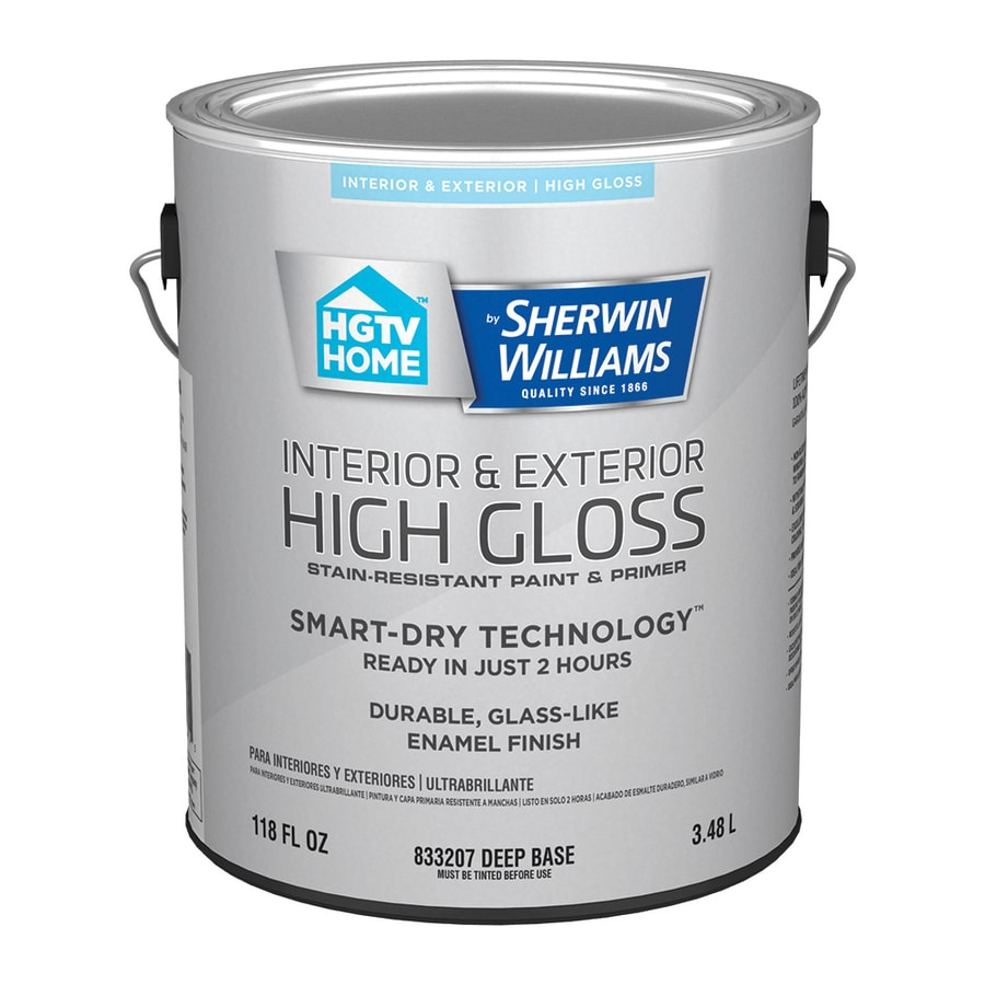 HGTV HOME by Sherwin-Williams Door And Trim Tint Base High-gloss Latex Interior/Exterior Paint and Primer in One (Actual Net Contents: 118-fl oz)
