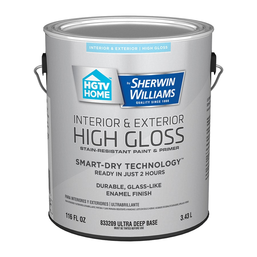 HGTV HOME by Sherwin-Williams Door And Trim Tint Base High-gloss Latex Interior/Exterior Paint and Primer in One (Actual Net Contents: 116-fl oz)
