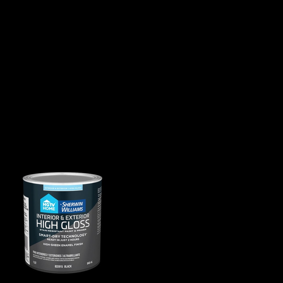 Hgtv Home By Sherwin Williams Door And Trim High Gloss Black Latex