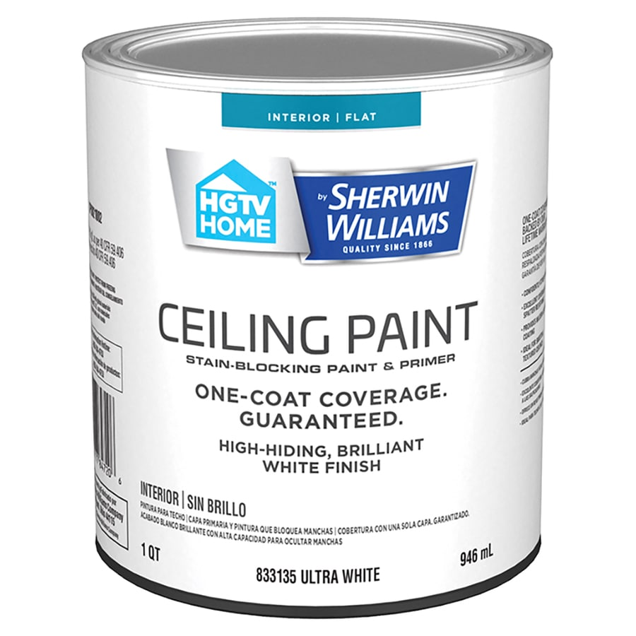 Hgtv Home By Sherwin Williams Ceiling Flat White Interior Paint 1