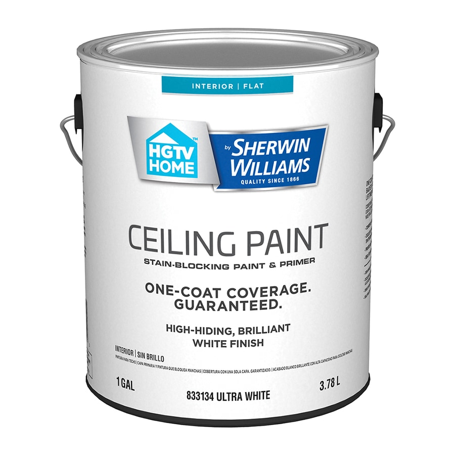 Shop hgtv home by sherwin williams ceiling white flat for Sherwin williams ceiling paint colors