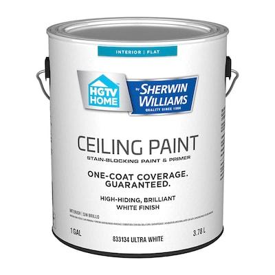 Ceiling Flat White Latex Paint Actual Net Contents 128 Fl Oz