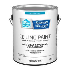 Hgtv Home By Sherwin Williams Ceiling Flat White Latex Paint Actual Net Contents