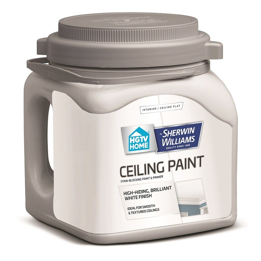 HGTV HOME by Sherwin-Williams Ceiling White Flat Latex Interior Paint and Primer in One (Actual Net Contents: 128-fl oz)