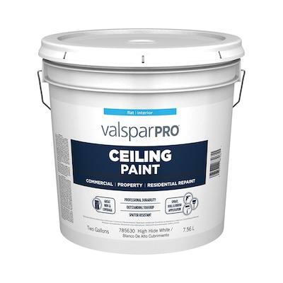 Professional High Hide White Flat Latex Interior Paint Actual Net Contents 256 0