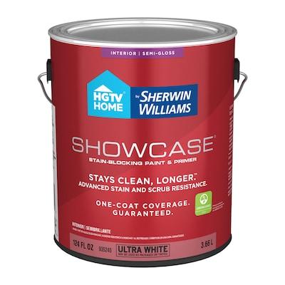Showcase Ultra White Base A Semi Gloss Acrylic Tintable Paint Actual Net Contents 124 Fl Oz