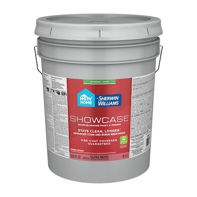 Showcase Ultra White Base A Satin Acrylic Tintable Paint Actual Net Contents 620 Fl Oz