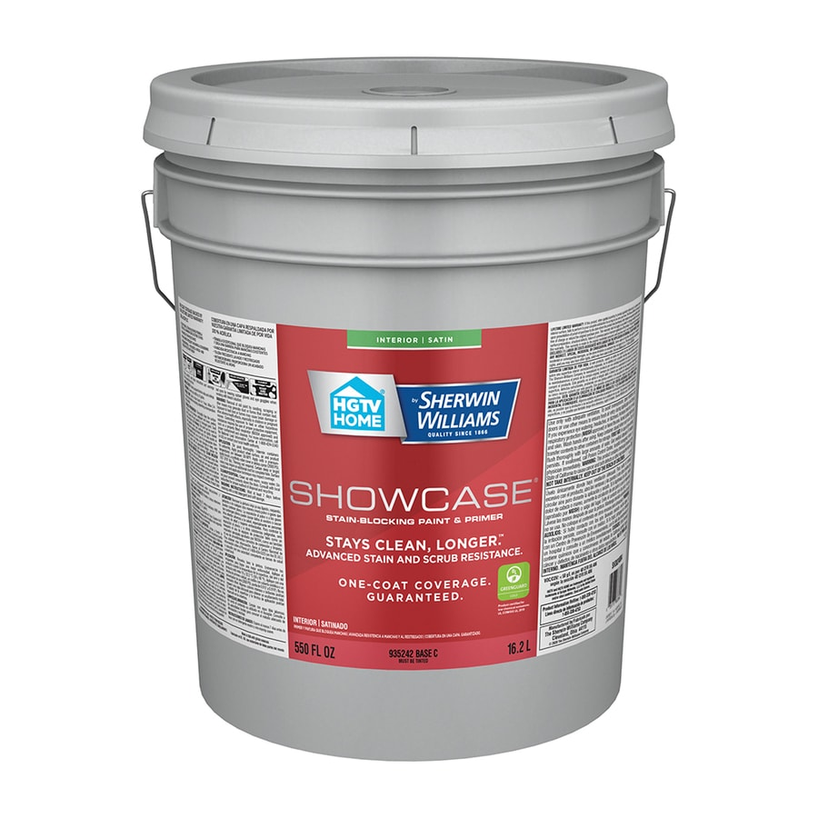 Hgtv Home By Sherwin Williams Showcase Satin Base C Latex Paint Actual Net Contents 550 Fl Oz