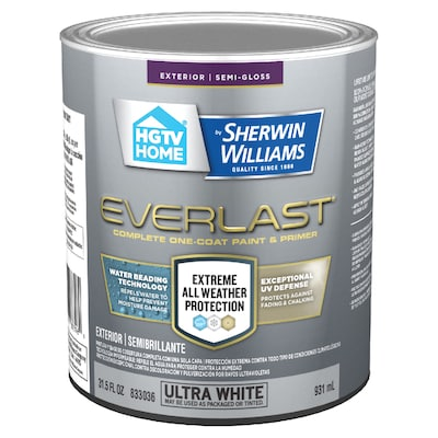 Everlast Ultra White Base1 Semi Gloss Exterior Tintable Paint Actual Net Contents 31 5 Fl Oz