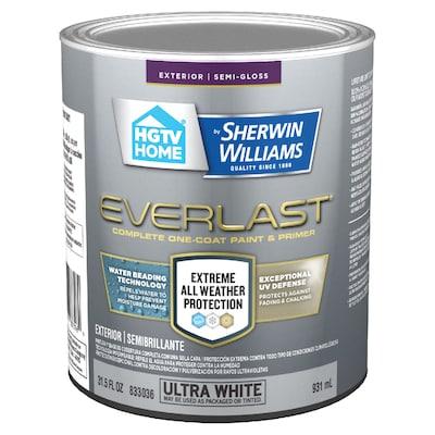 Everlast Semi Gloss Ultra White Base 1 Latex Exterior Paint Actual Net Contents 31 5 Fl Oz