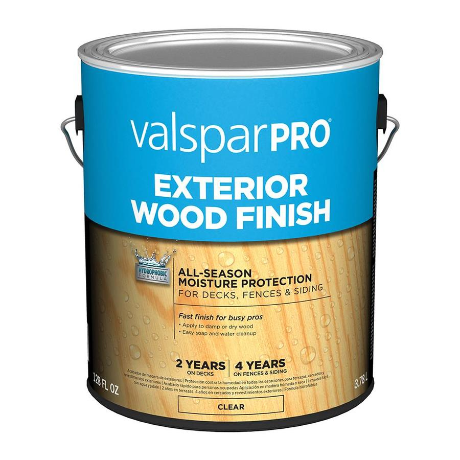 shop valspar pre tinted clear exterior stain actual net contents 128 fl oz at On clear exterior