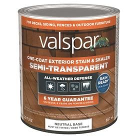 Valspar Tintable Tint Base Semi Transparent Exterior Stain And Sealer Actual Net Contents