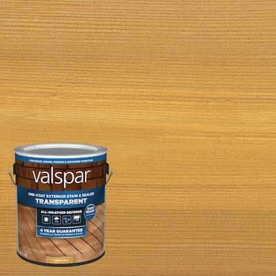 Valspar Pre-Tinted Honey Gold Transparent Exterior Stain and Sealer