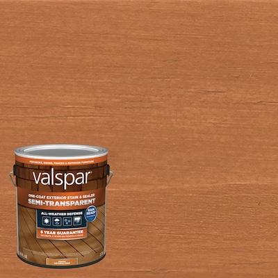 Valspar Pre-Tinted Cedar Naturaltone Semi-Transparent Exterior Stain and Sealer (Gallon)