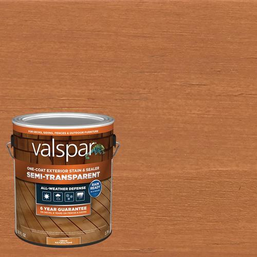 Valspar Pre Tinted Cedar Naturaltone Semi Transparent Exterior Stain And Sealer Gallon In The Exterior Stains Department At Lowes Com