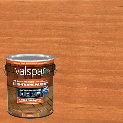 Valspar Pre-Tinted Redwood Naturaltone Semi-Transparent Exterior Stain and Sealer (Gallon)