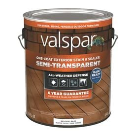 Valspar Tintable Tint Base Semi Transpa Exterior Stain And Sealer Actual Net Contents