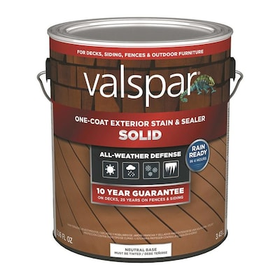 Valspar Tintable Neutral Base Solid Exterior Stain and
