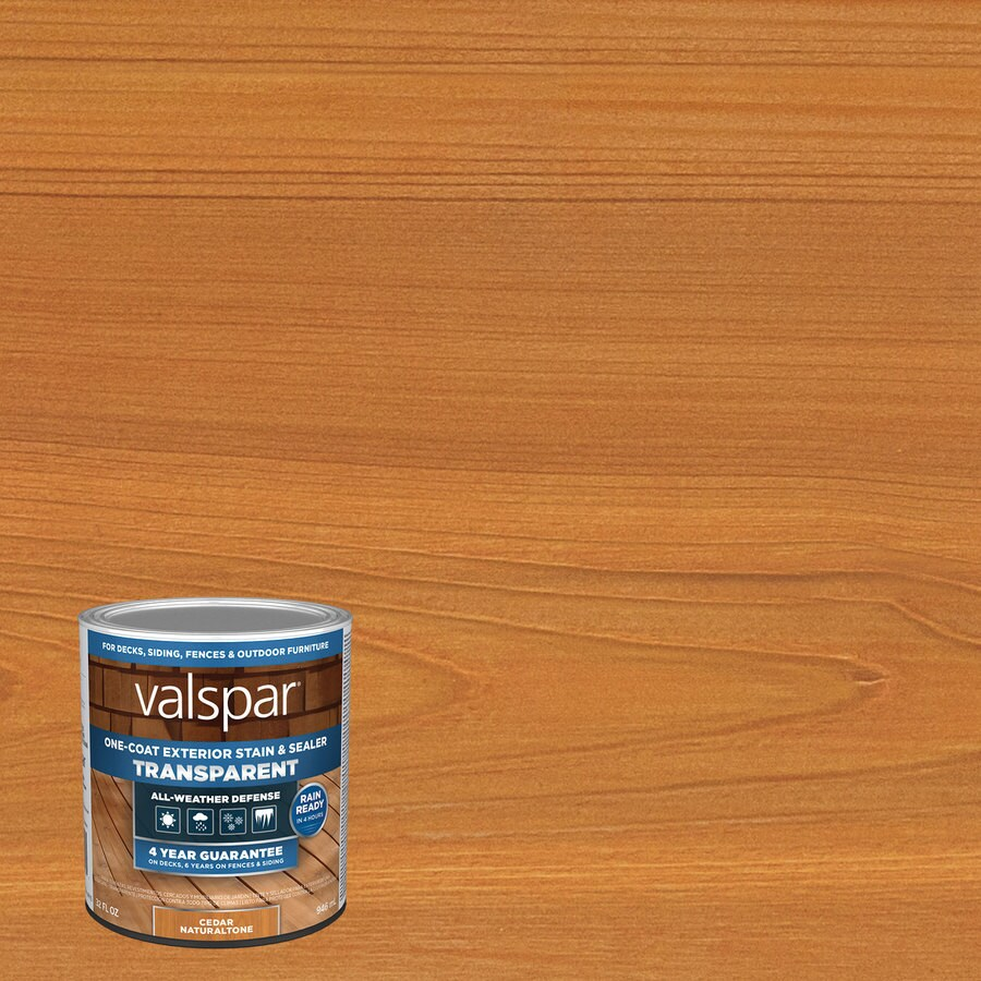 Valspar Pre Tinted Cedar Naturaltone Transpa Exterior Stain And Sealer Actual Net Contents 32 Fl Oz