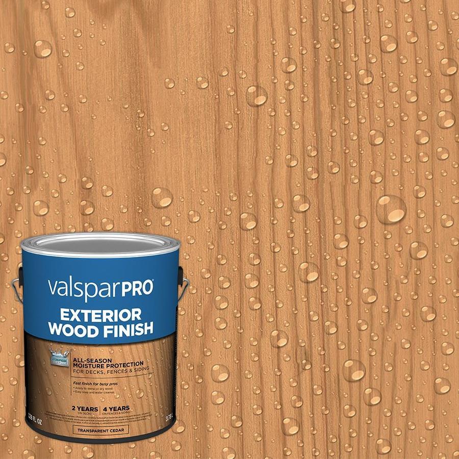 Shop valspar pre tinted cedar transparent exterior stain and sealer actual net contents 128 fl for Lowes exterior stain and sealer