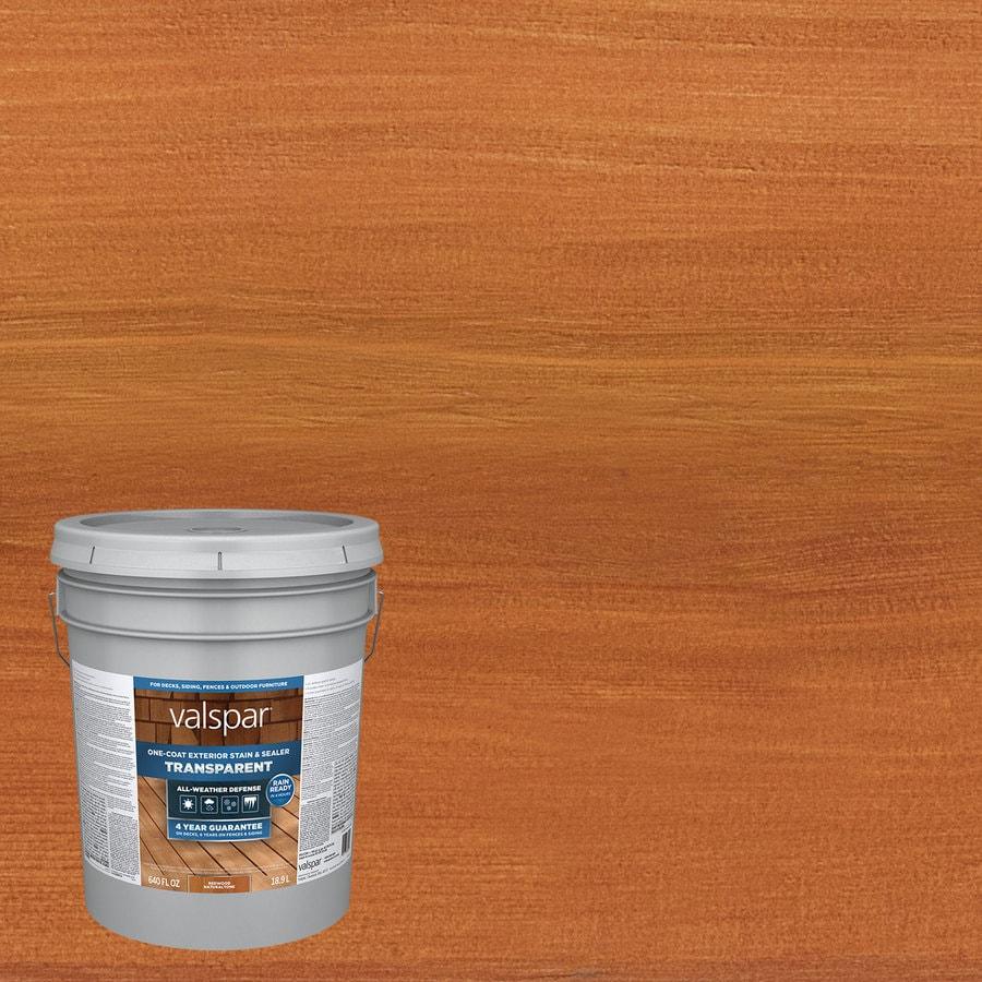 Valspar pre tinted redwood naturaltone transparent exterior stain and sealer actual net for Lowes exterior stain and sealer