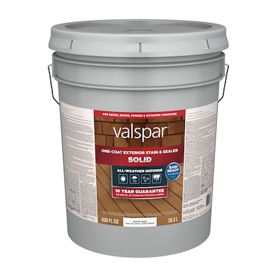 Valspar Tintable White Base Solid Exterior Stain and Sealer
