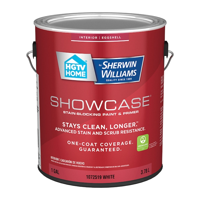 Hgtv Home By Sherwin Williams Showcase Eggshell White Interior Paint 1 Gallon In The Interior Paint Department At Lowes Com