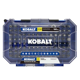 Kobalt 100-Piece 1-in Steel Hex Shank Screwdriver Bit Set