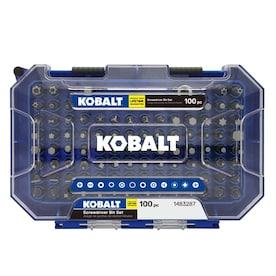 Kobalt 100-Piece 1-in Steel Hex Shank Screwdriver Bit Set