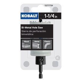 Kobalt 1-1/4-in Bi-Metal Arbored Hole Saw