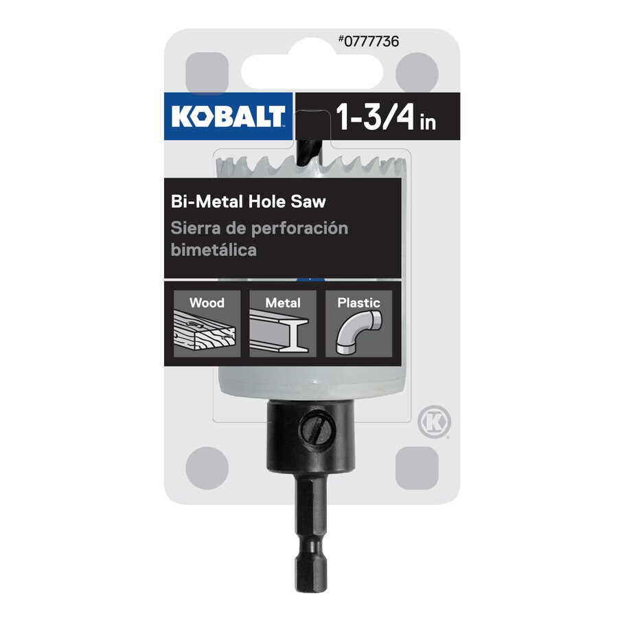 Kobalt 1-3/4-in Bi-Metal Arbored Hole Saw