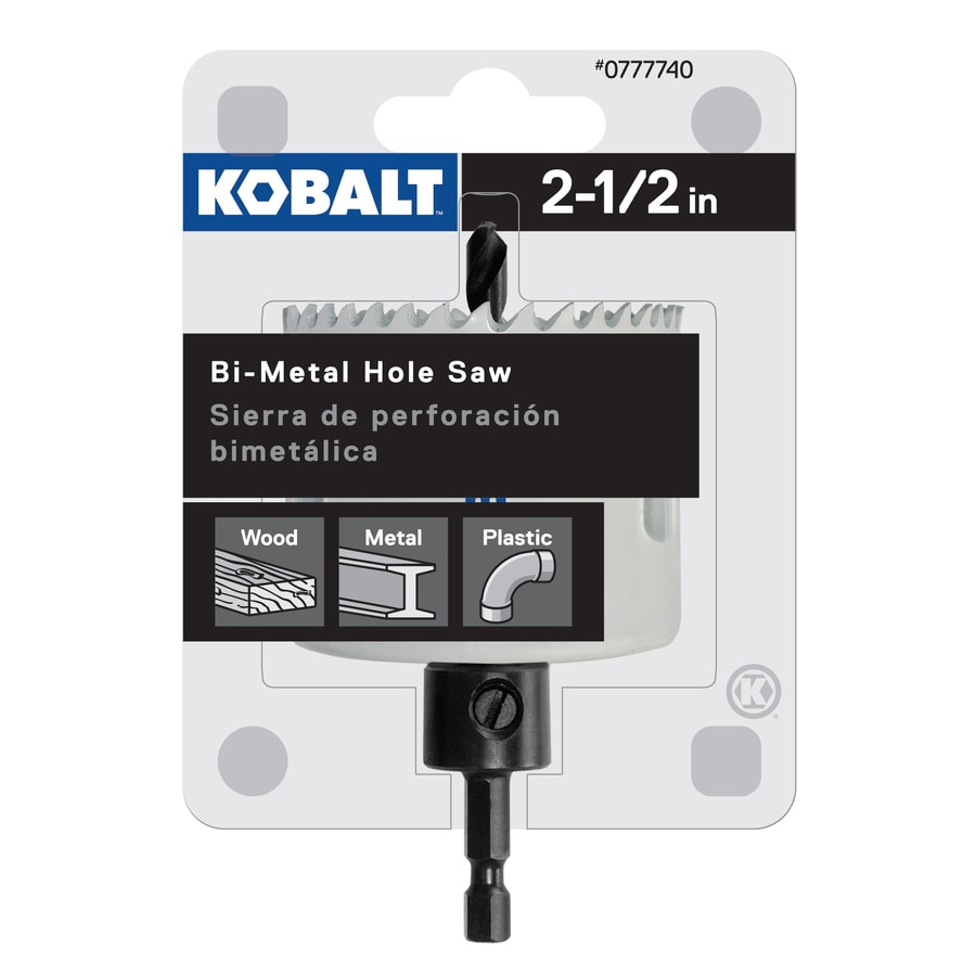 Kobalt 2-1/2-in Bi-Metal Arbored Hole Saw