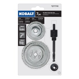 Kobalt 7-Pack Set Bi-metal Arbored Hole Saw