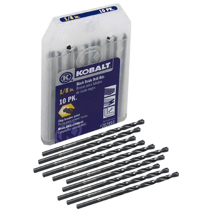 Kobalt 10-Pack 1/8-in Black Oxide Twist Drill Bits