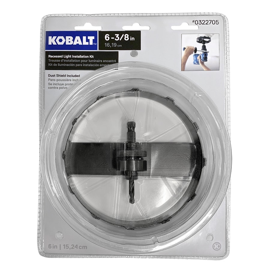 Kobalt  In Carbide Grit Arbored Recessed Lighting Hole Saw
