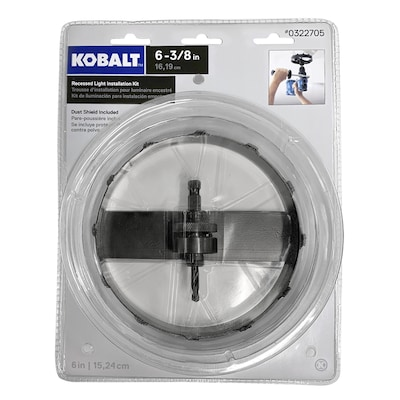 reputable site 254e5 13b16 6-3/8-in Carbide-Grit Arbored Recessed Lighting Hole Saw