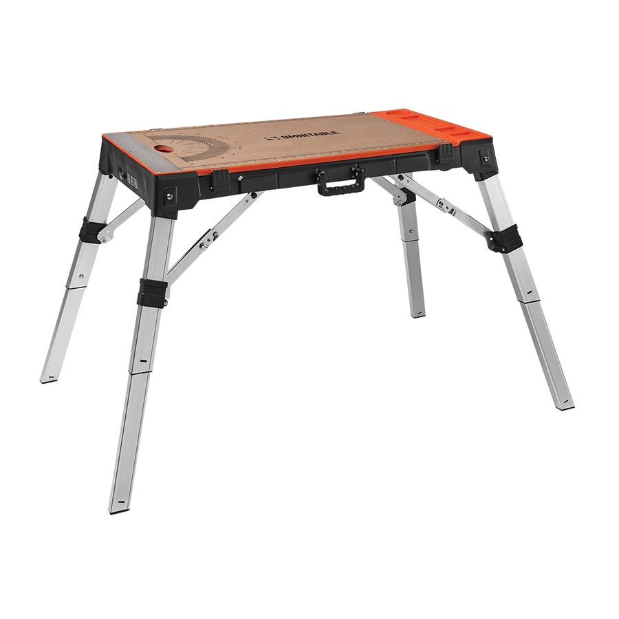 Shop Omnitable W X 31 1 In H Adjustable Height Plastic Work Bench At
