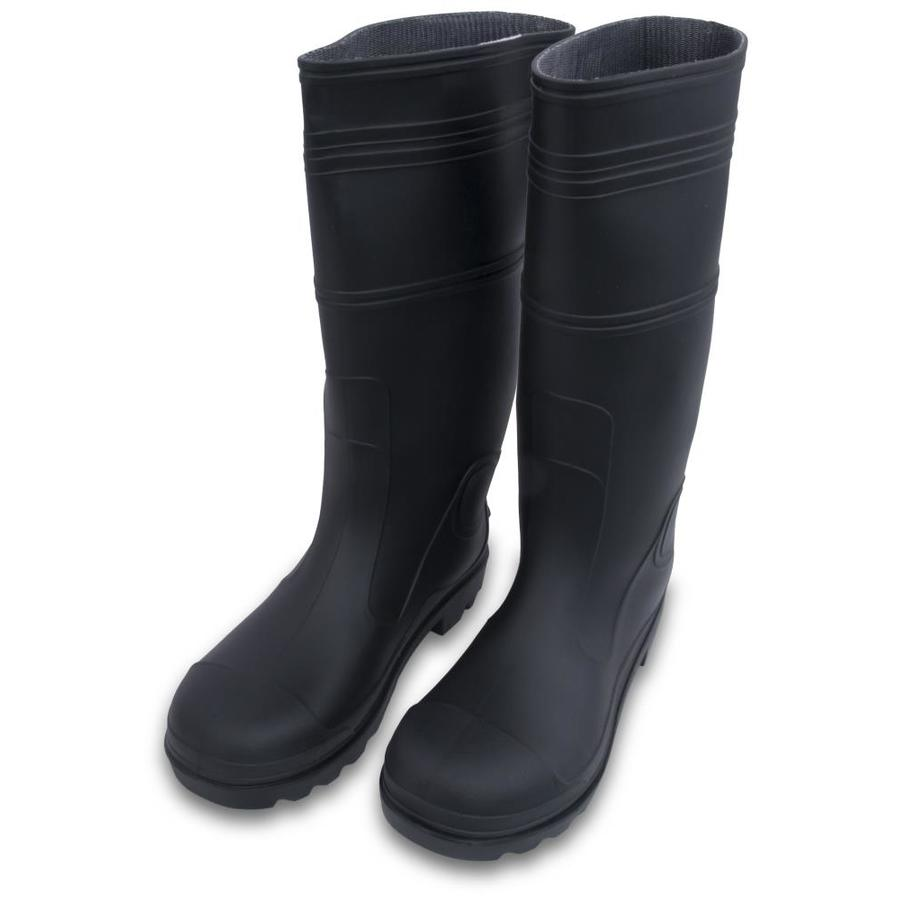 Marshalltown Lined Black Rubber Boots 9 At Lowes Com