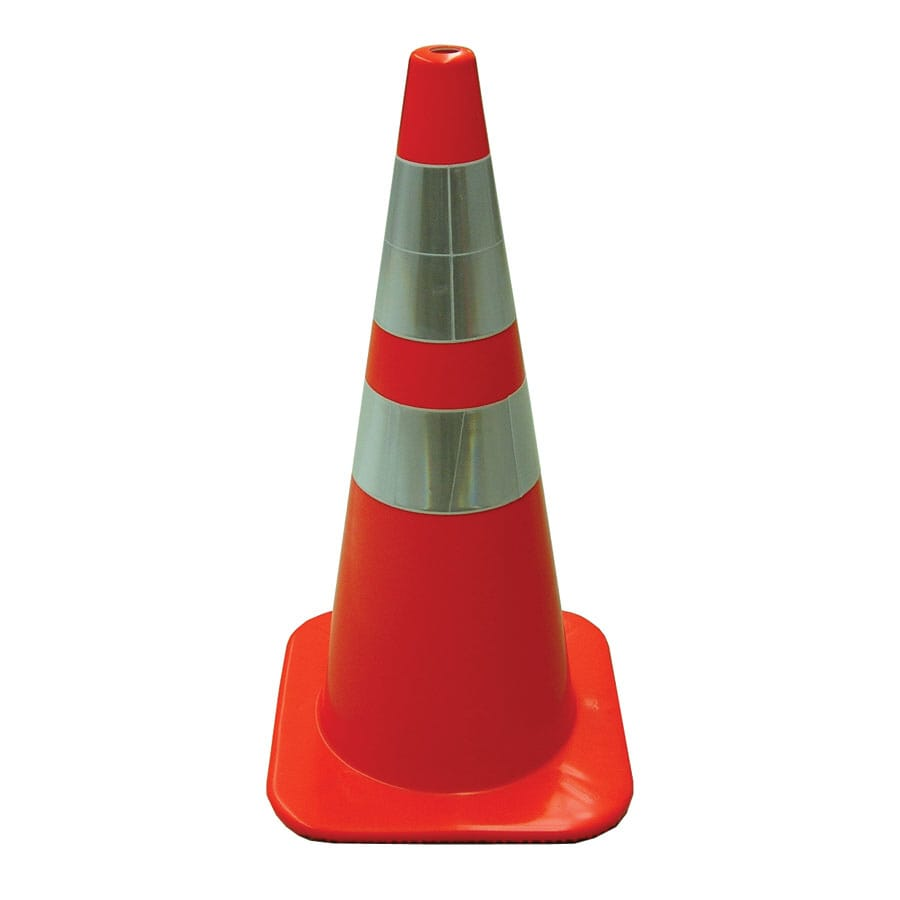 "JACKSON SAFETY Brand 28"" Reflexite Orange Cone"