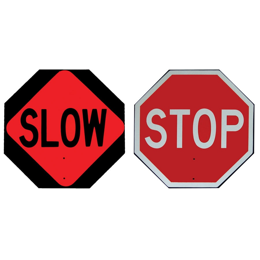 "Jackson Safety 24"" Stop/Slow ABS Paddle Sign"