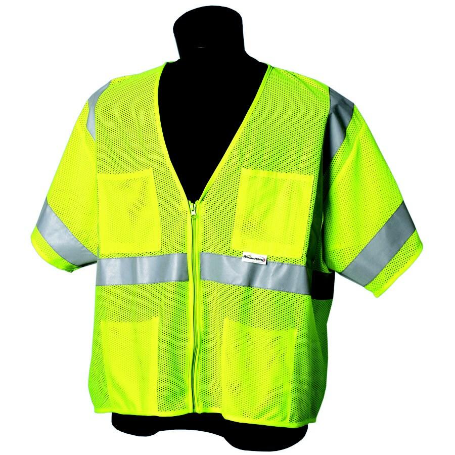 JACKSON SAFETY Brand Class 3 Sleeveless Lime Mesh Vest